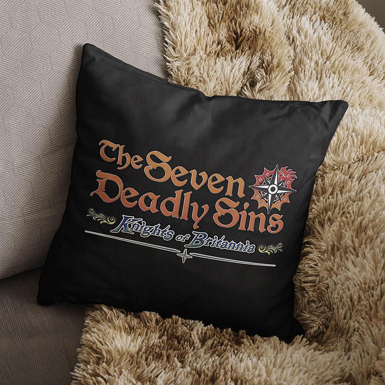 Almofada The Seven Deadly Sins Knights Of Britania Os Sete Pecados Capitais Anime Netflix (Preta) - EV