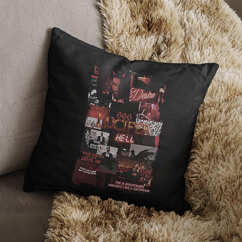 Almofada TV Shows The Devil Lucifer Morningstar Netflix (Preta) - EV