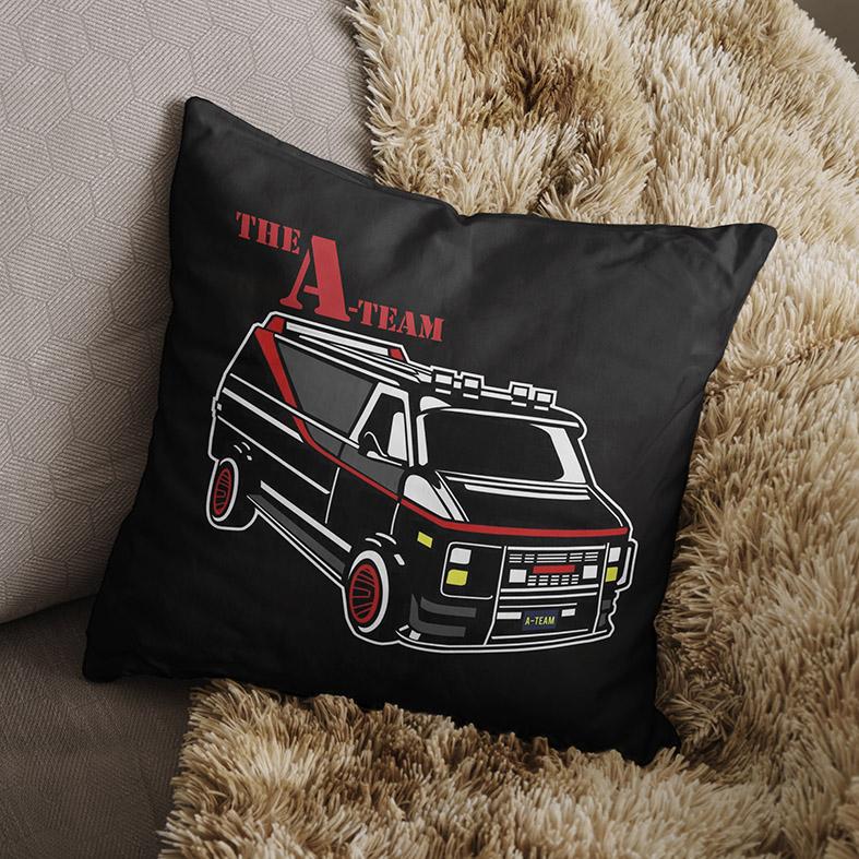 Almofada Van The A-Team Esquadrão Classe A (Preta) - EV