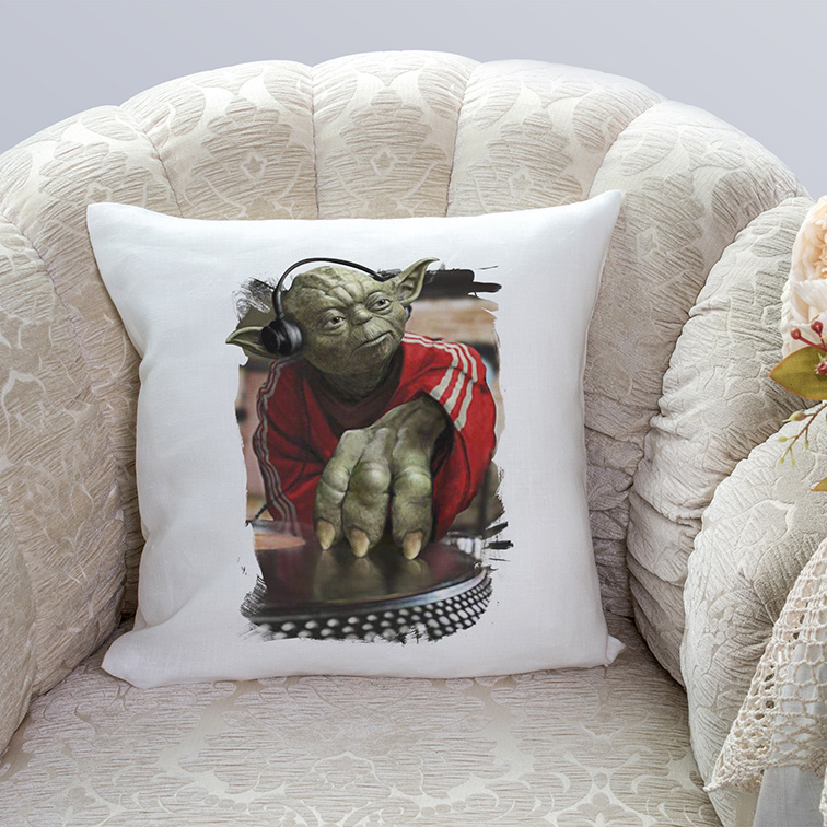 Almofada Yoda Night Dj Music: Star Wars (Branca) - EV