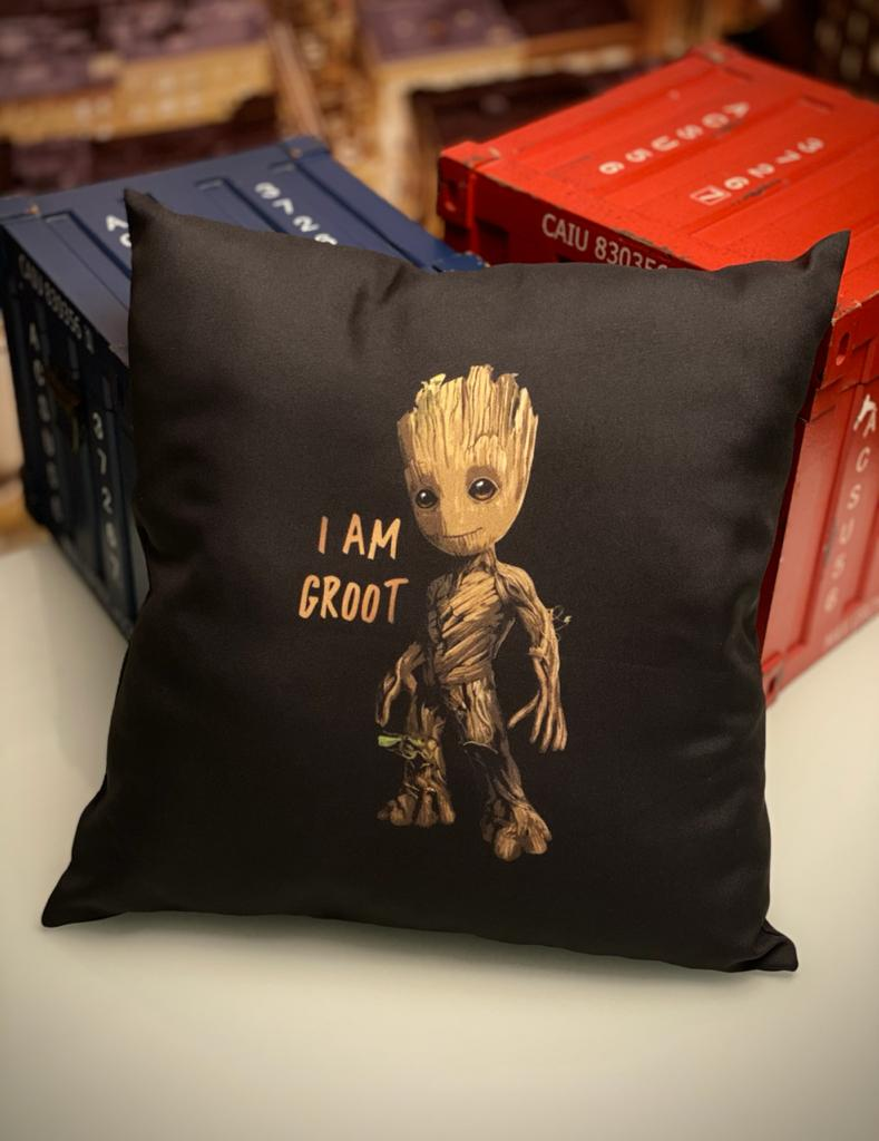 Almofada Young Baby Groot I Am Groot: Guardiões Da Galáxia Guardians Of The Galaxy Marvel - EV