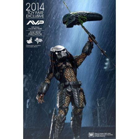 Ancient Predador / Predator Exclusivo Toy Fair 2014 Alien vs Predador / Predator Escala 1/6 - Hot Toys