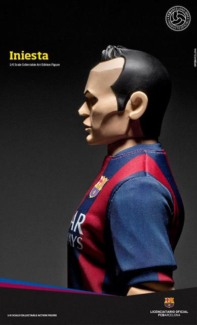 Andres Iniesta FCBarcelona Soccer Figure Art Edition 1:6 - ZC World