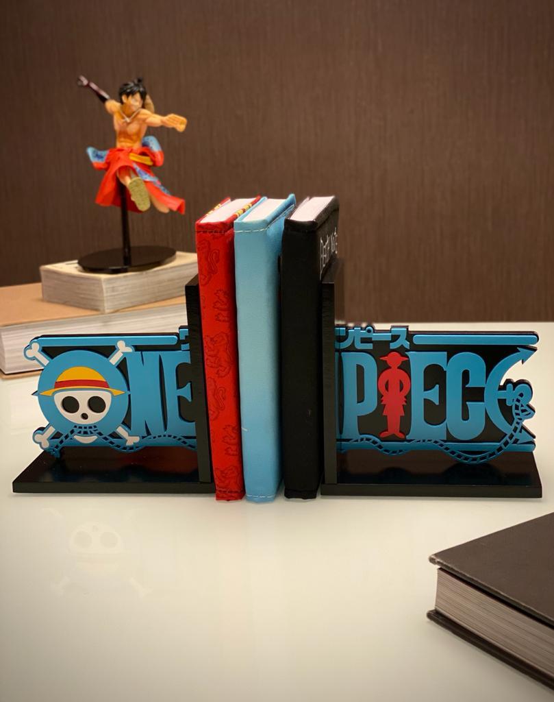 Porta Livro Aparador de livro One Piece Monkey D. Luffy - Anime Mangá - EV