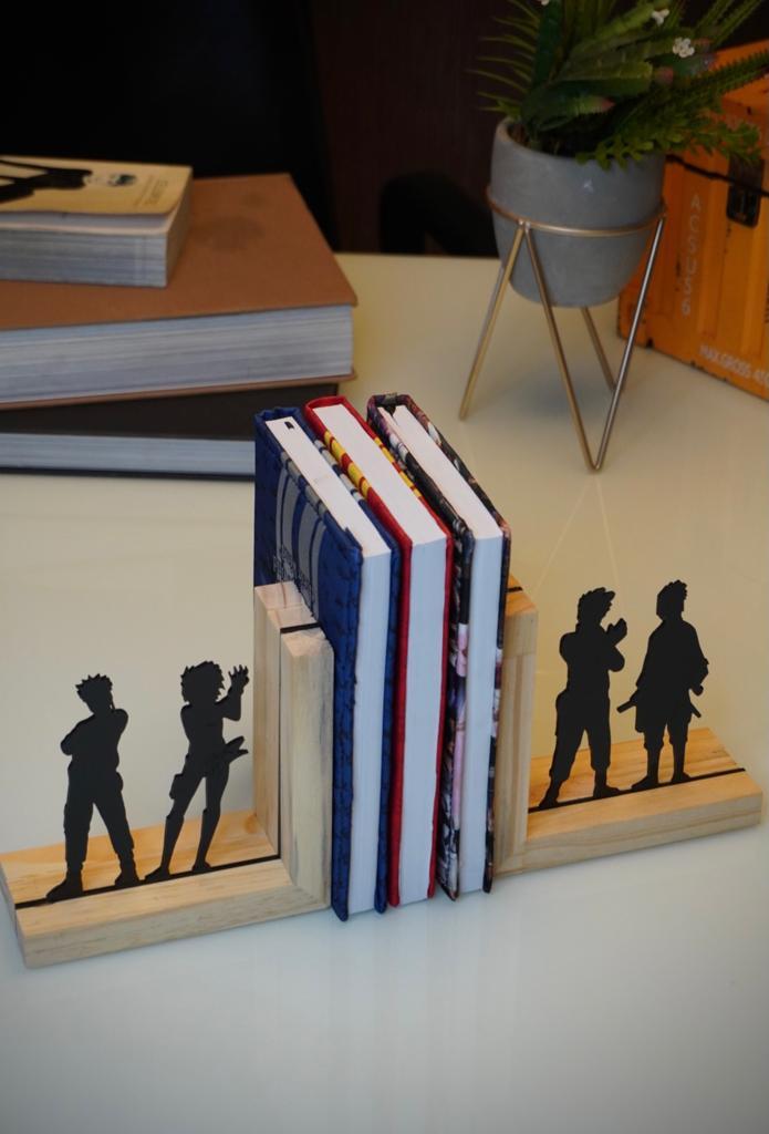 Aparador Porta Livros Time 7 Naruto, Sakura, Sasuke, Kakashi: Naruto Shippuden - EV