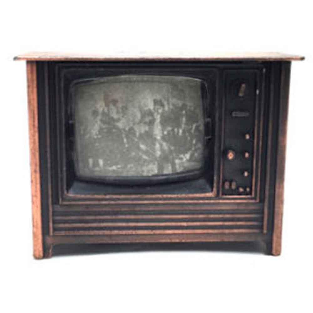 Apontador De Metal: Televisão Vintage NO 9639