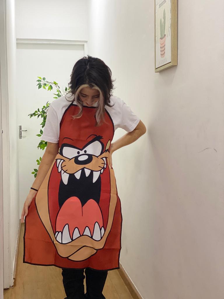 Avental de Algodão Taz Mania: Looney Tunes