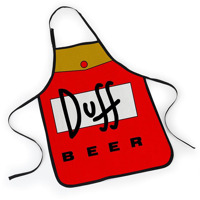 Avental Os Simpsons Duff Beer Homer Embalagem Lata - EV