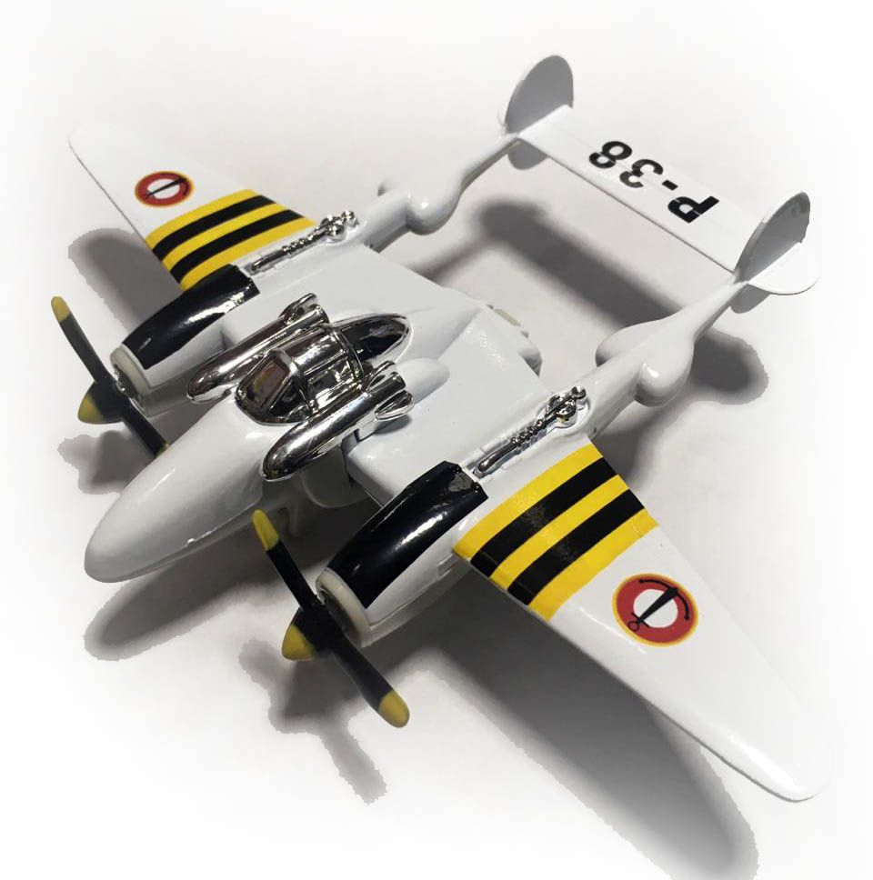Avião Bimotor War Fighter P-38 (Branco)