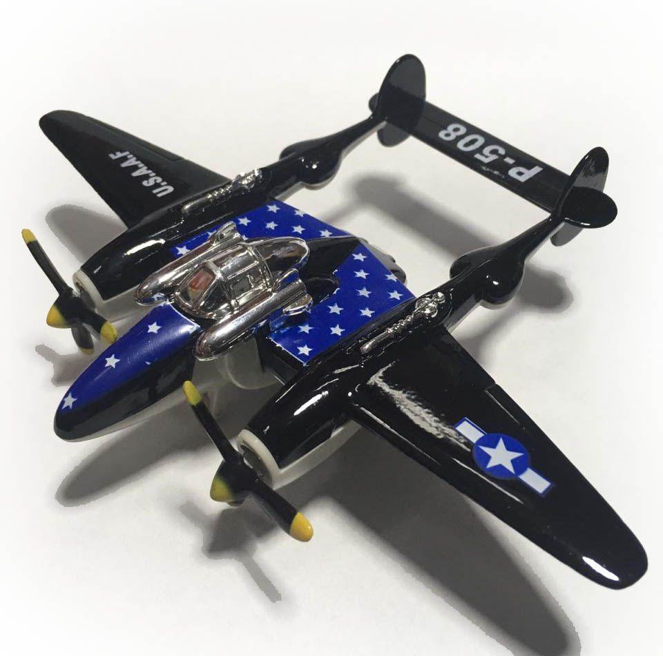 Avião Bimotor War Fighter P-508 (Preto)