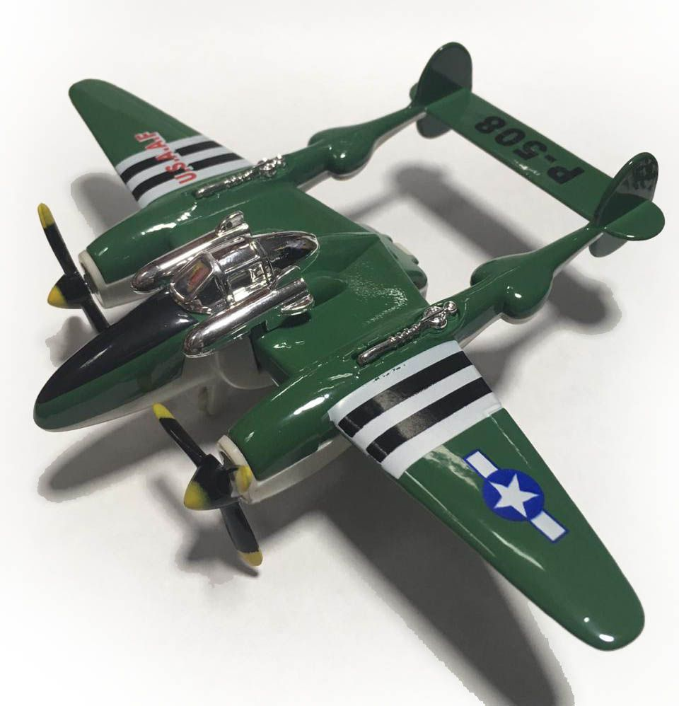 Avião Bimotor War Fighter P-508 (Verde)