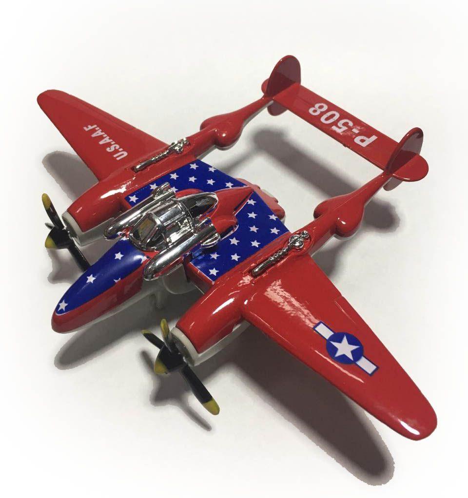 Avião Bimotor War Fighter P-508 (Vermelho)  - Toyshow Geek e Colecionáveis Tudo em Marvel DC Netflix Vídeo Games