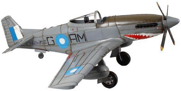 Avião de Guerra Cinza GR Metal - Oldway