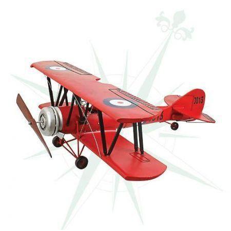 Avião Vermelho Asas Duplas - Oldway