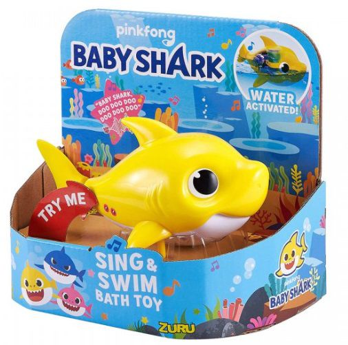 Baby Shark Canta e Nada (Amarelo) Pinkfong - Candide