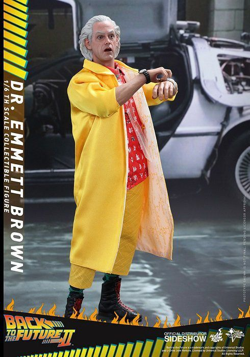Boneco Dr. Emmett Brown: De Volta Para o Futuro II (Back to The Future II) Escala 1/6 - Hot Toys