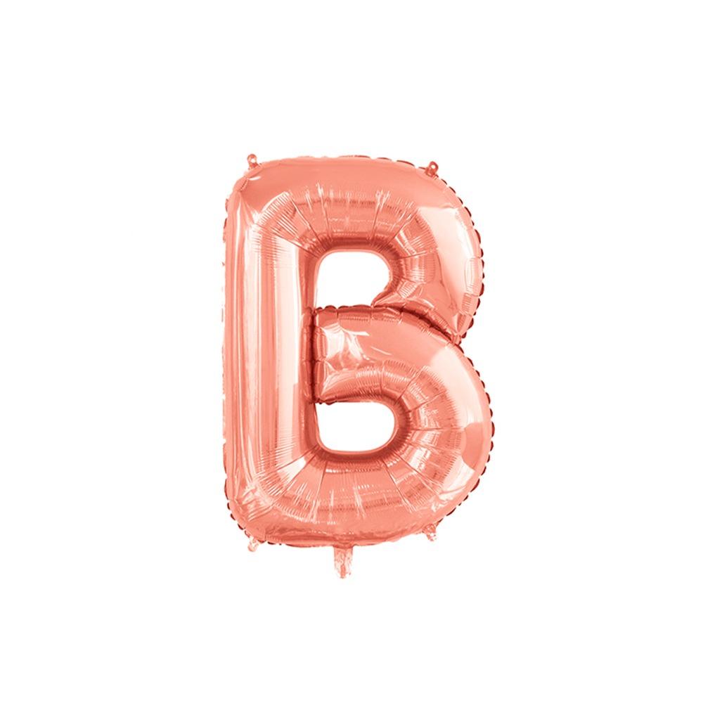 Balão Inflável Para Festas Rose de Alumínio Alfabeto Letra B 32 Polegadas