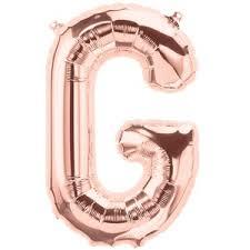 Balão Inflável Para Festas Rose de Alumínio Alfabeto Letra G 32 Polegadas