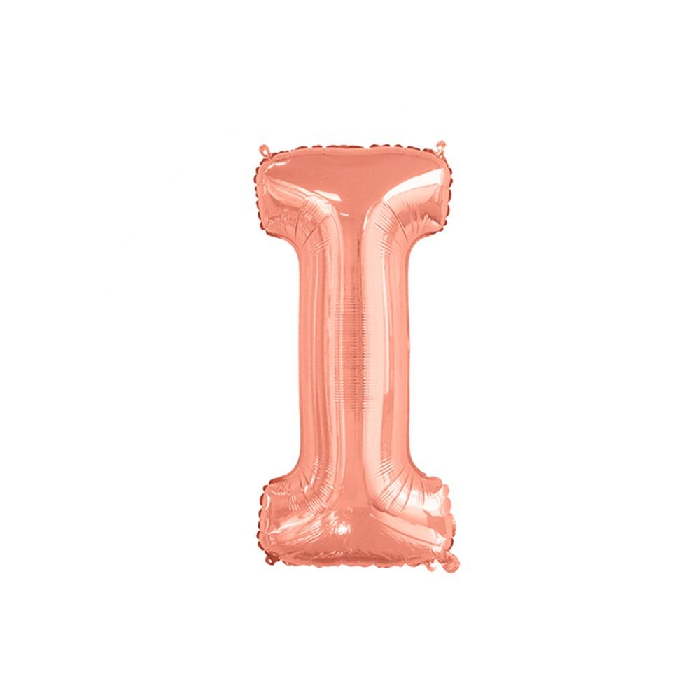 Balão Inflável Para Festas Rose de Alumínio Alfabeto Letra I 32 Polegadas