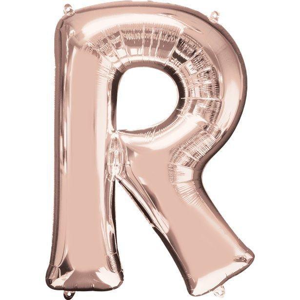 Balão Inflável Para Festas Rose de Alumínio Alfabeto Letra R 32 Polegadas