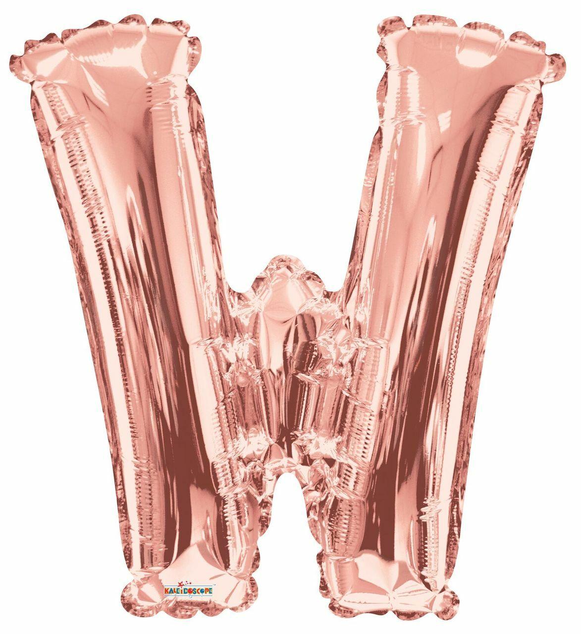 Balão Inflável Para Festas Rose de Alumínio Alfabeto Letra W 32 Polegadas