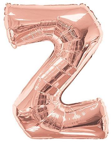 Balão Inflável Para Festas Rose de Alumínio Alfabeto Letra Z 32 Polegadas