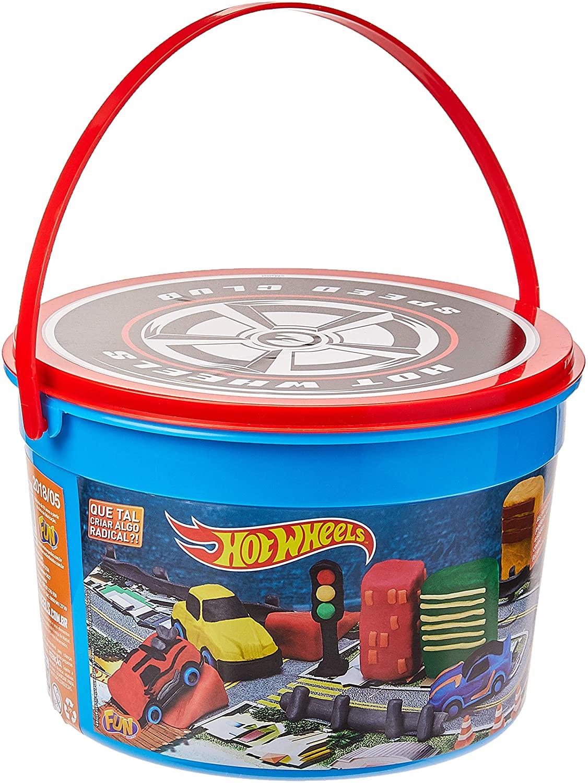 Balde de Massinha Hot Wheels: Roda Divertida Mattel