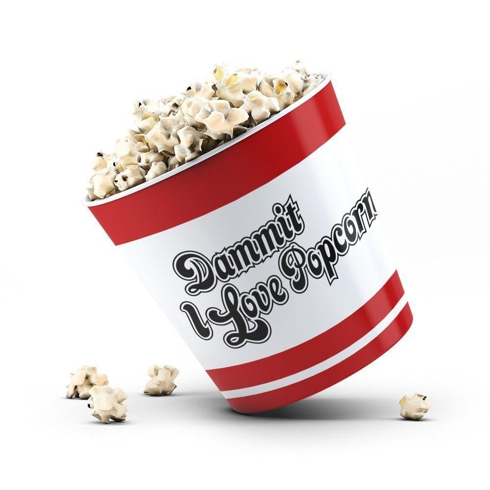 Balde de Pipoca Arlequina (I Love Popcorn)