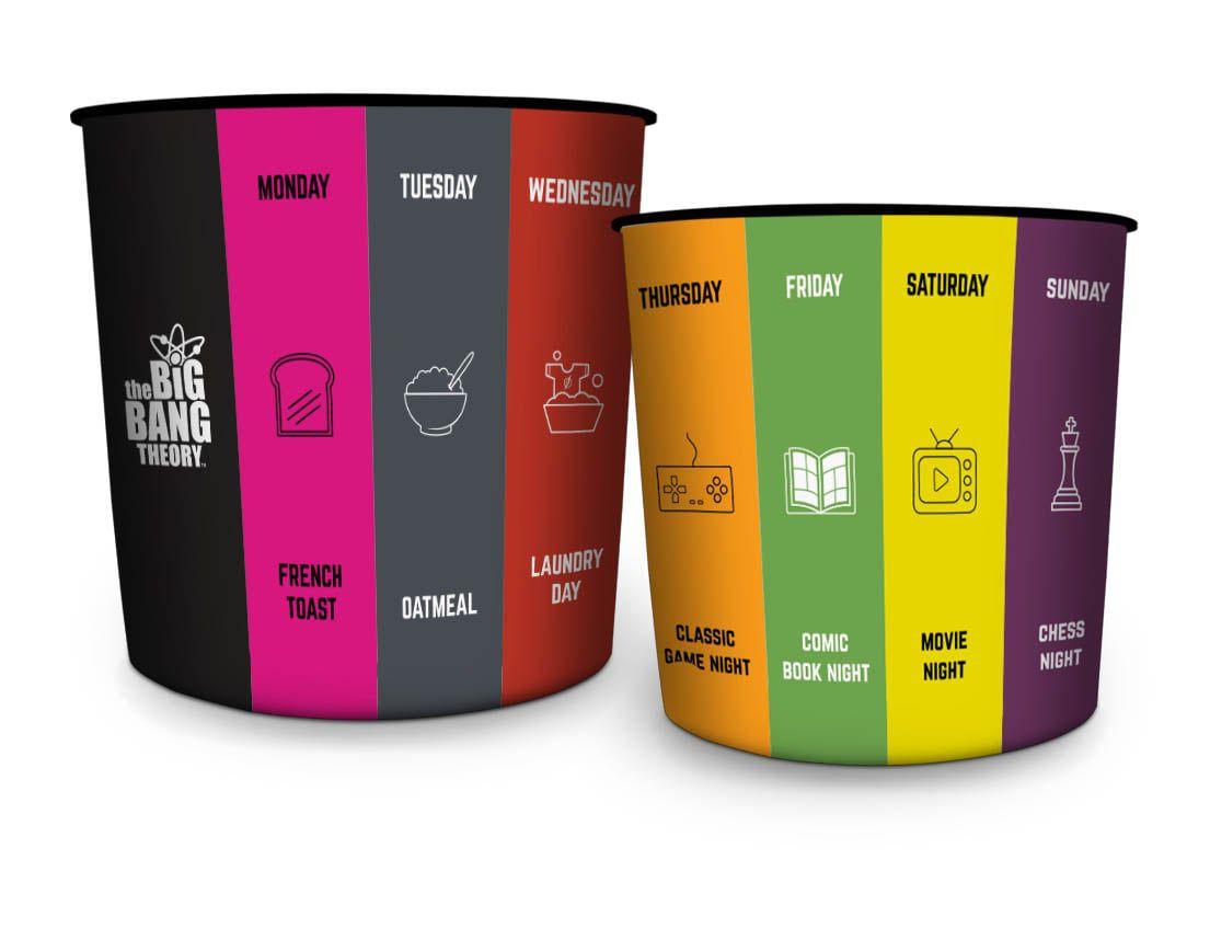 Balde de Pipoca Dias da Semana (Days Of The Week): Big Bang Theory (5 Litros) - Urban