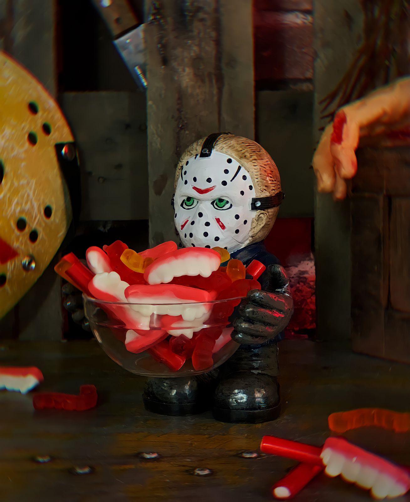 Baleiro Porta Balas Jason: Sexta Feira 13 Decoração de Dias Das Bruxas Halloween