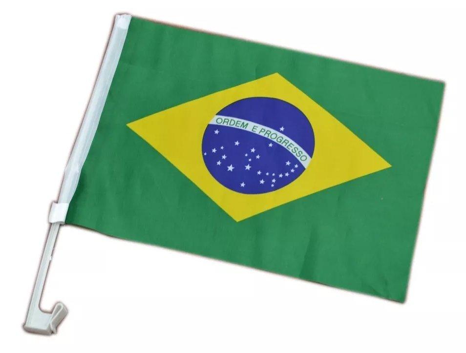 Bandeira Do Brasil Com Suporte Para Carro