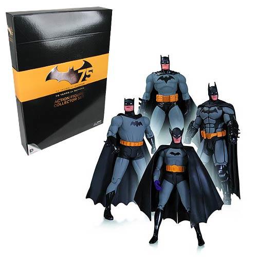 Pack 4 Bonecos Batman (75th Anniversary) - Dc Collectibles - CG