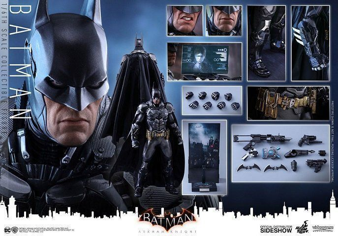 Action Figure Batman: Batman Arkham Knight Escala 1/6 - Hot Toys