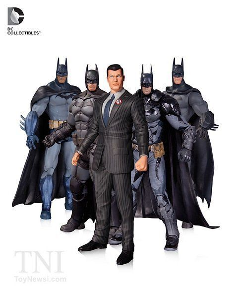 Pack Batman Arkham Series com 5 Batmans - Dc Collectibles