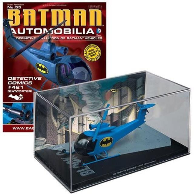 Batman Automobilia Magazine #55  Batcopter - Eaglemoss