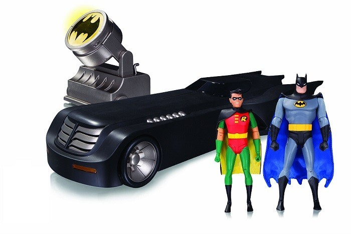 Batman The Animated Series: Batmobile (Batmóvel) Deluxe With Batman e Robin - Dc Collectibles