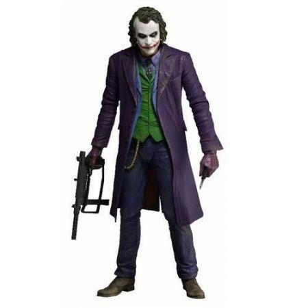 Boneco Coringa (Joker): Batman: O Cavaleiro das Trevas Escala 1/4 - Neca
