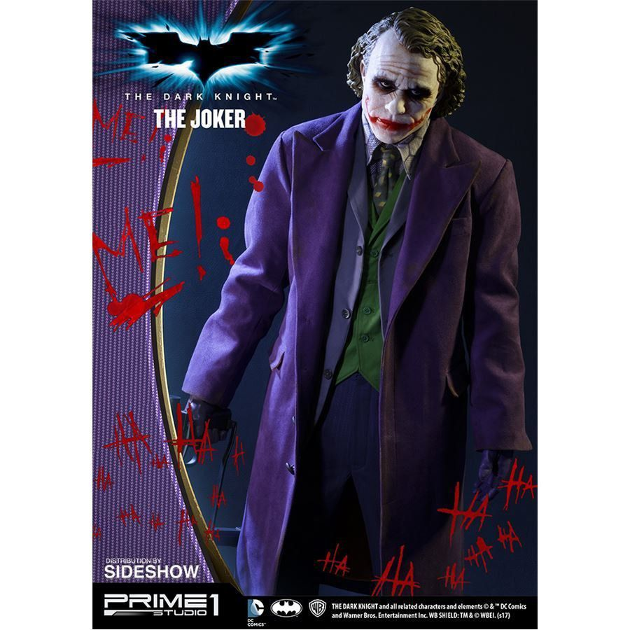 PRÉ VENDA : Batman The Dark Knight: The Joker Estátua Escala 1/2 - Prime 1 Studio