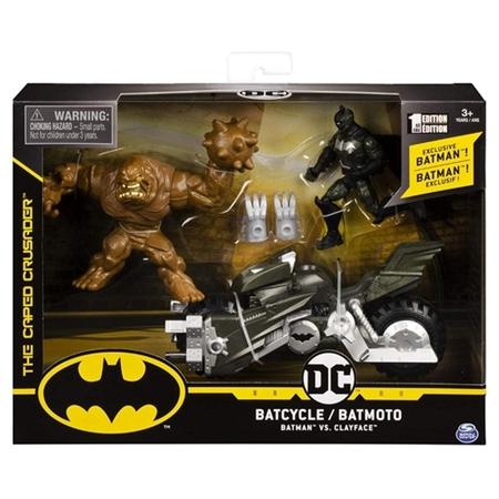 Batmoto Batcycle Batimoto e Figuras Batman Vs Cara de Barro Clayface: Batman DC Comics - Sunny