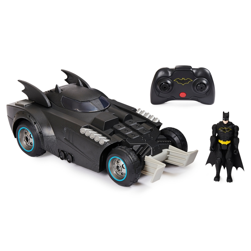 Batmóvel (Batmobile) Com Controle Remoto e Boneco Batman (Launch and Defend ): DC Comics - Sunny