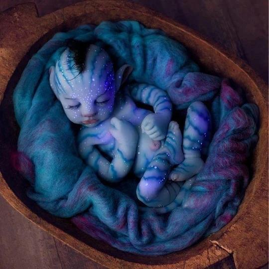 Boneca Silicone Simulação Bebê Newborn Avatar - 50 cm - EVALI