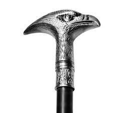Bengala com Espada Cajado Cabeça de Águia Bengala 92cm / Espada 40cm