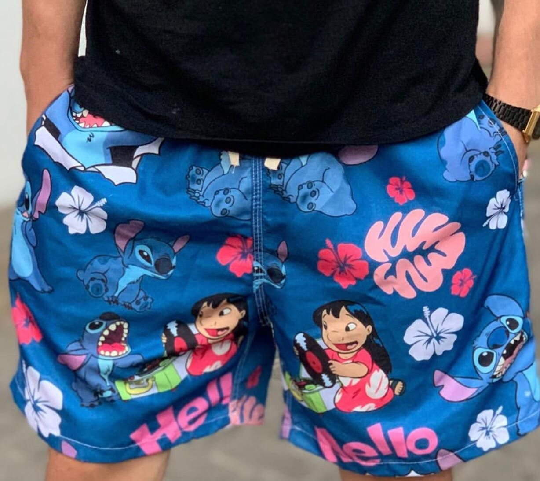 Bermuda (Shorts Praia) Lilo & Stitch - Disney