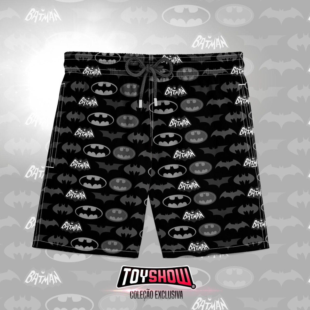 Bermuda (Shorts Praia) Logo: Batman - DC Comics