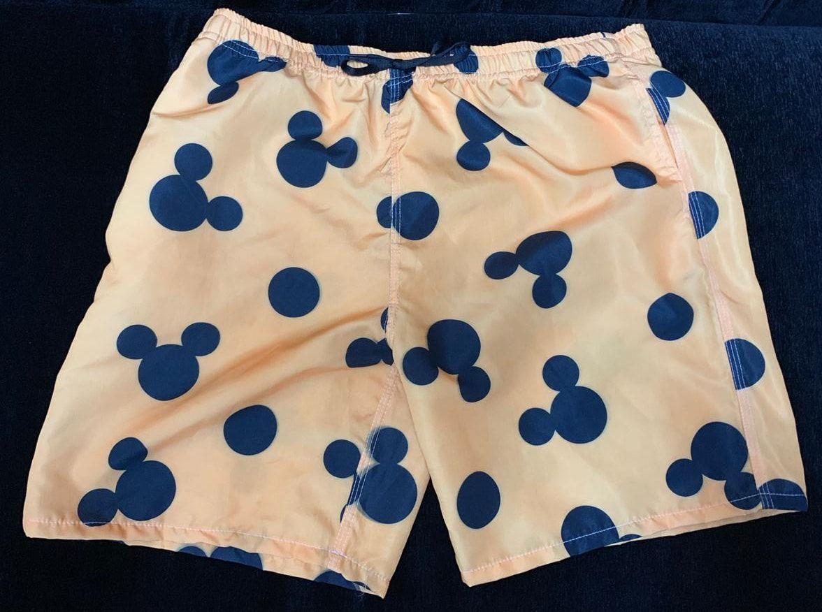 Bermuda (Shorts Praia) Mickey Mouse (Laranja): Disney