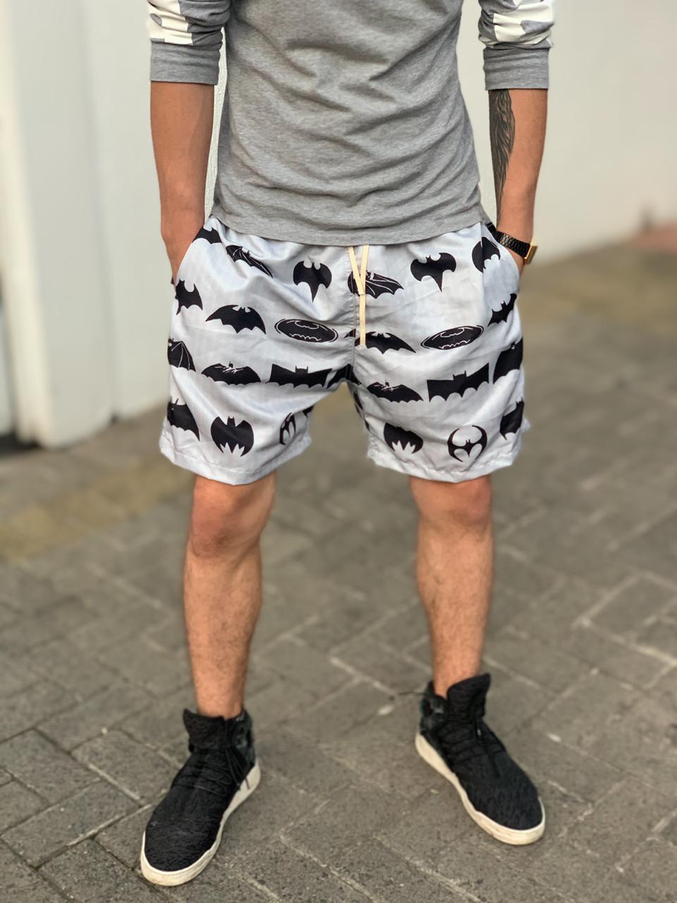 Bermuda (Shorts Praia) Morcegos (Batman) DC Comics