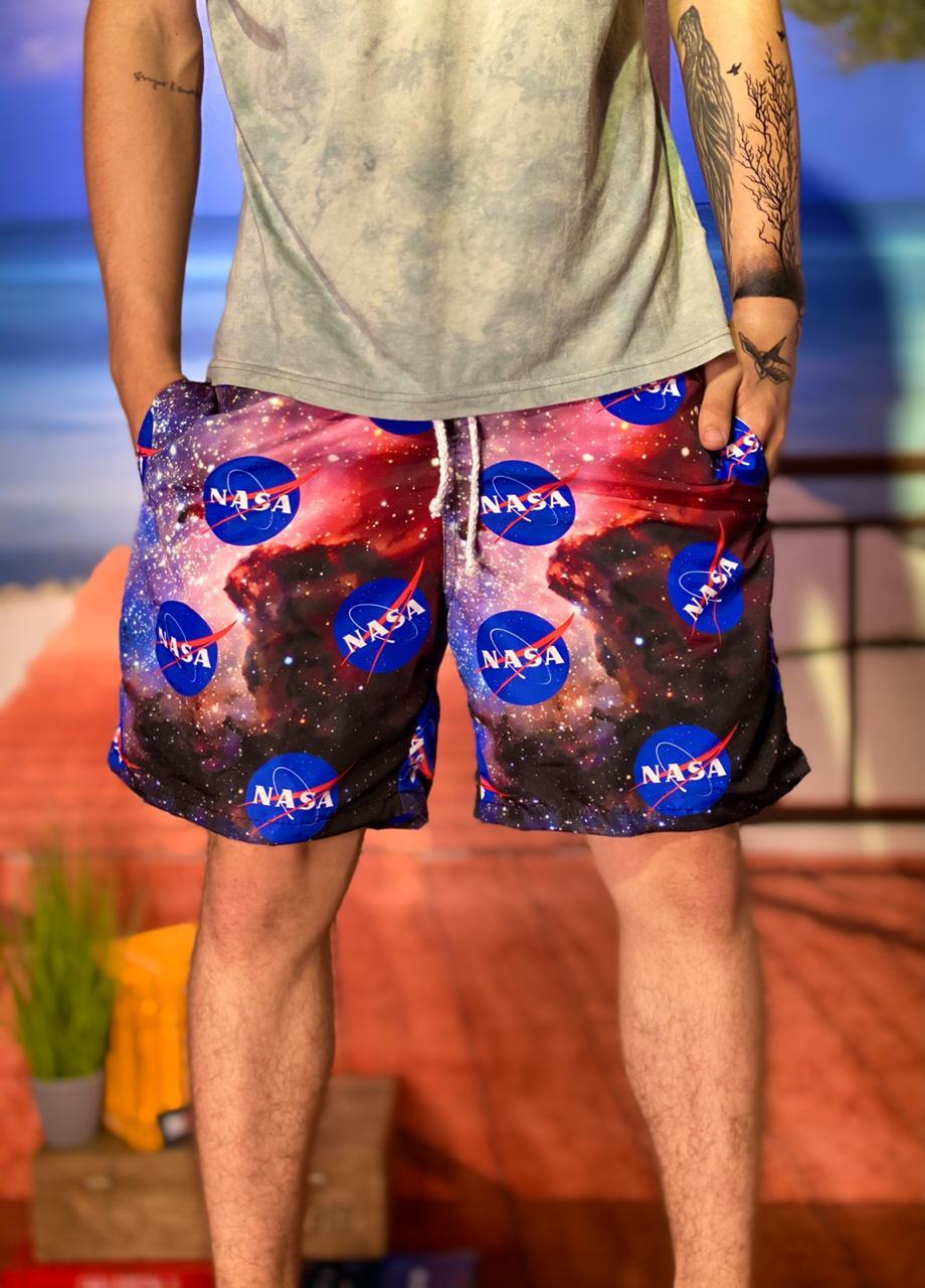 Bermuda (Shorts Praia) Nasa: Espaço