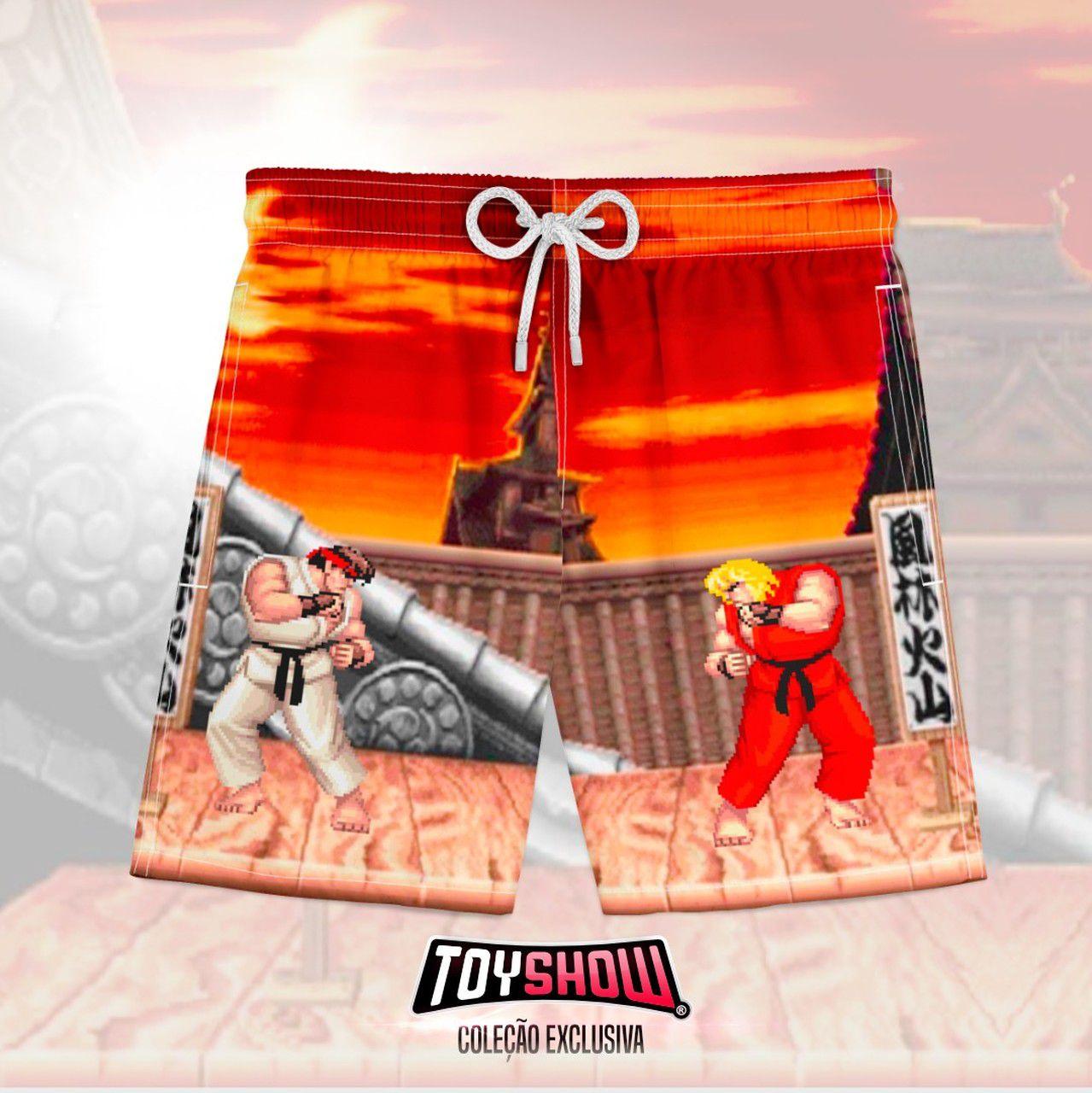 Bermuda (Shorts Praia) Ryu vs Ken: Street Fighter