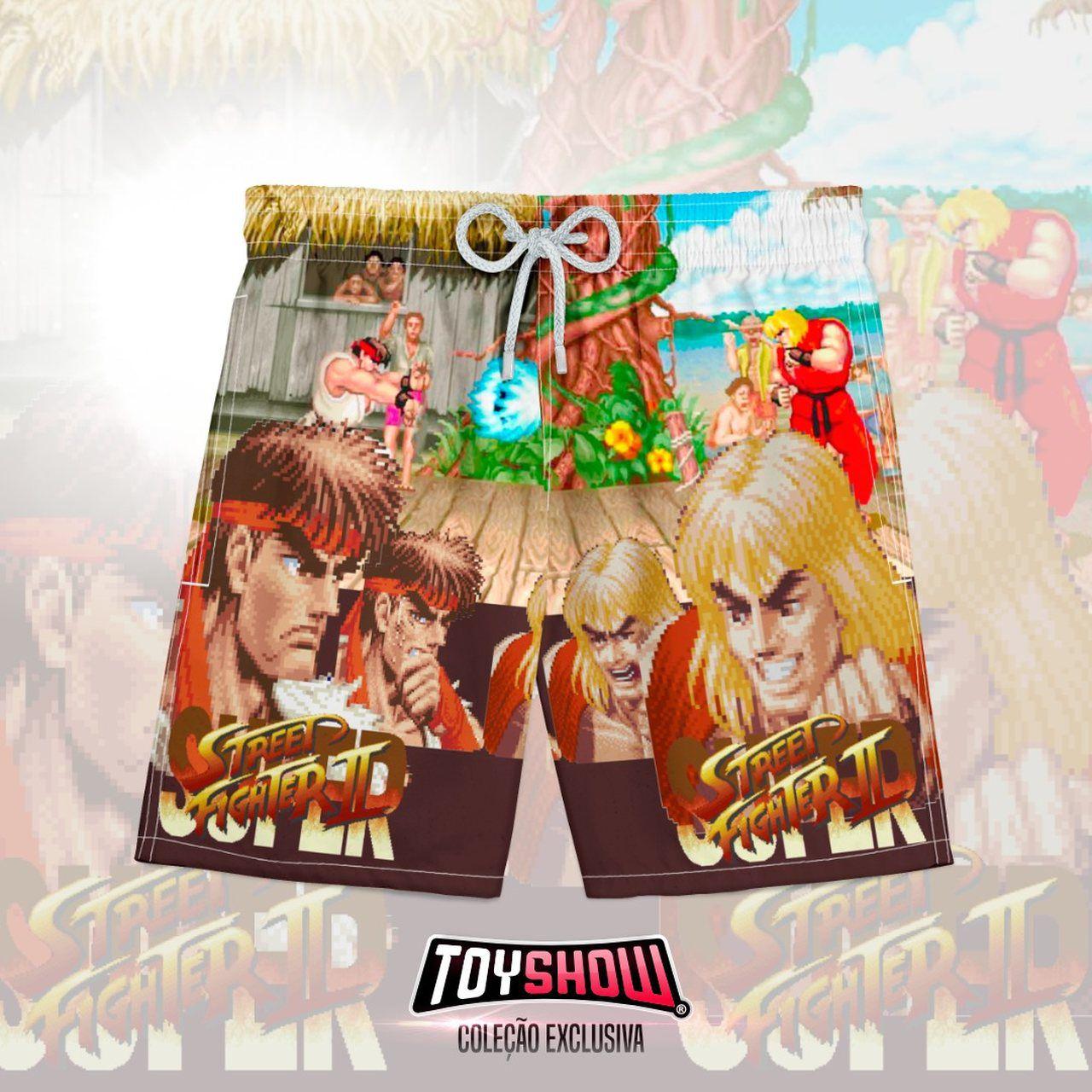 Bermuda (Shorts Praia) Ryu vs Ken: Super Street Fighter