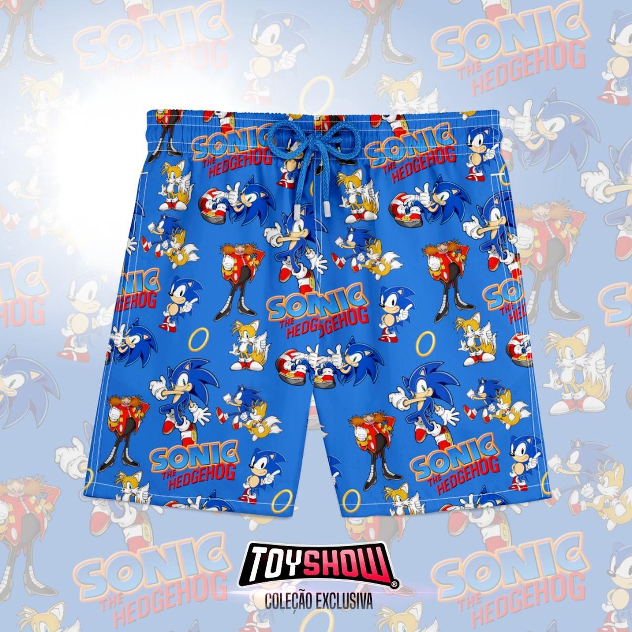 Bermuda (Shorts Praia) Sonic (The Hedgehog)